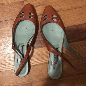 Brown Italian Leather Mules